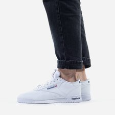 Reebok Ex o fit leather sneakers in white ar3169