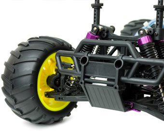 Ausschnitt eines fernsteuerbaren Buggys