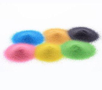 Dekosand in unterschiedlichen Farben