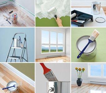 Neun kleine Bilder über Renovierungsarbeiten im Haus