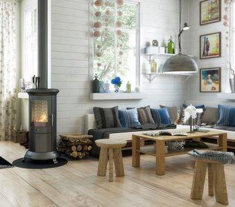 Schlichte Möbel aus Holz und Naturfarben
