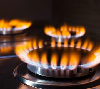 Offene Flamme eines Gaskochfeldes