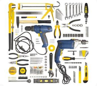Werkzeug für den Haushalt auf einen Blick