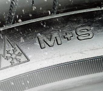 Winterreifen mit alpinem Symbol und M S Kennzeichen