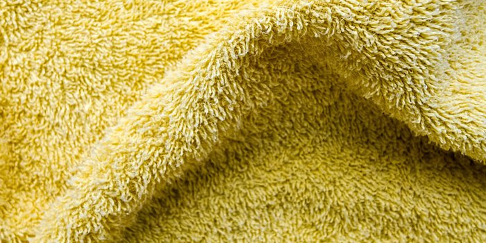Gelber Teppich als Nauhaufnahme
