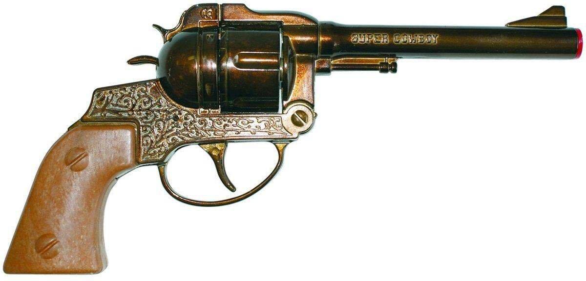 12-Schuss-Colt Spielzeugpistole für Karneval Cowboy-Pistole Samuel antik