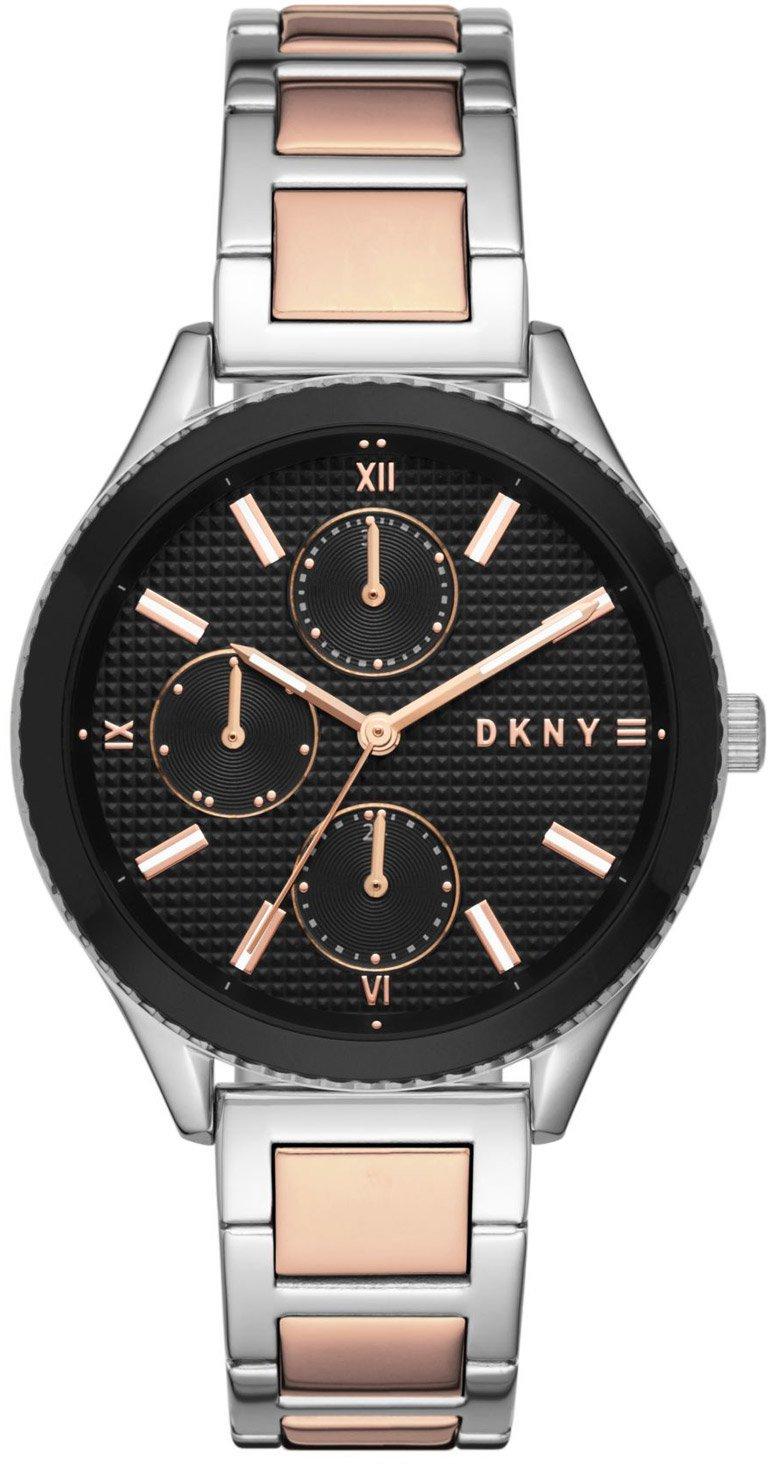 DKNY Damen Armband Uhr Edelstahl Kristall Bling NY-3746 3ATM Batterie neu s061