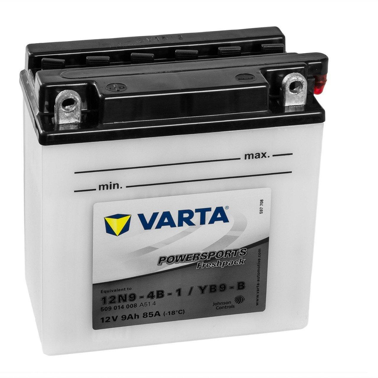 S/äurepack WET Starterbatterie in Erstausr/üsterqualit/ät leistungsstark Accurat Motorrad-Batterie YB9L-B 9Ah 100A 12V Standard-Nassbatterie inkl