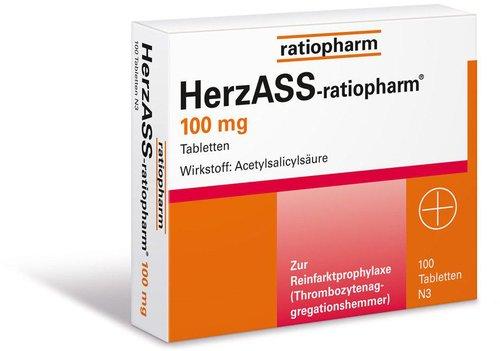 ratiopharm Herz Ass 100 mg Tabletten (100 Stk.) (PZN: 04561936)