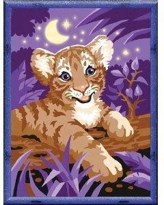 Ravensburger Malen Nach Zahlen Tiger Im Mondschein