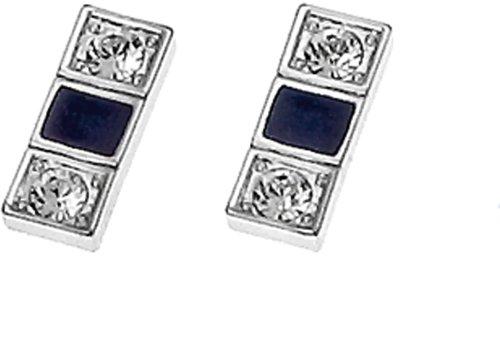 Oliver Weber 8458 Rhodium Swarovski Crystal Earrings