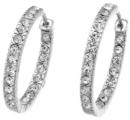 Oliver Weber 8431 Rhodium Swarovski Crystal Earrings