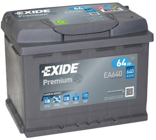 Exide Premium EA640 Carbon Boost Autobatterie