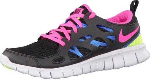Nike Free Run 2 GS Laufschuh Sneaker schwarz blau 146215