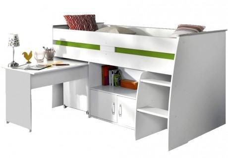parisot hochbett mit schreibtisch g nstig kaufen. Black Bedroom Furniture Sets. Home Design Ideas