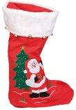 Nikolausstiefel mit Netz velours 5 cm Weihnachten Nikolaus Plüsch beflockt