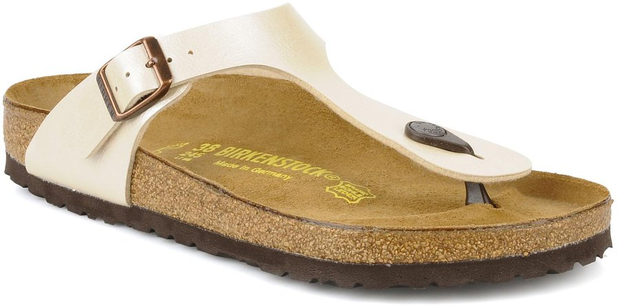 separation shoes 3e72d ffe72 Birkenstock Gizeh Birko-Flor graceful pearlwhite