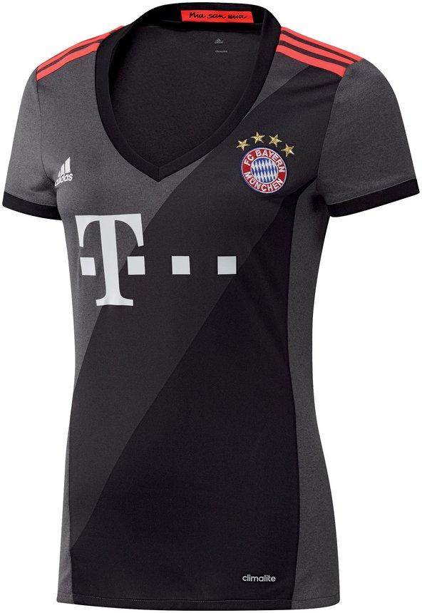 FC Bayern M/ünchen Strickschal Lady Damen grau