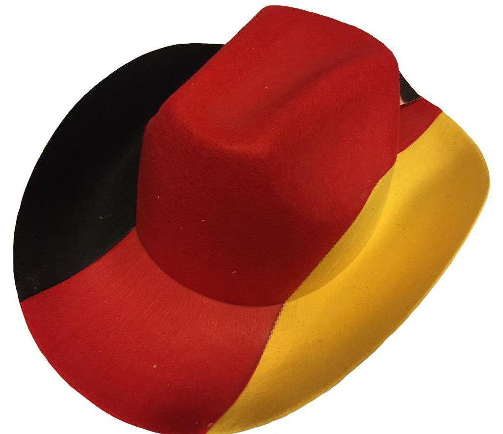 Cowboyhut Deutschland Westernhut Filzhut Hut Kappe Fanartikel WM EM