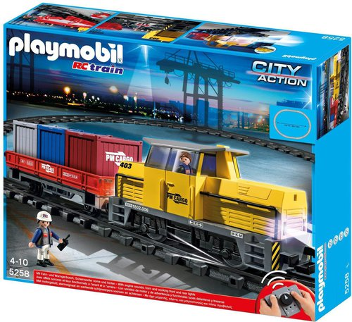 Playmobil Neuer RC-Güterzug mit Licht und Sound (5258)