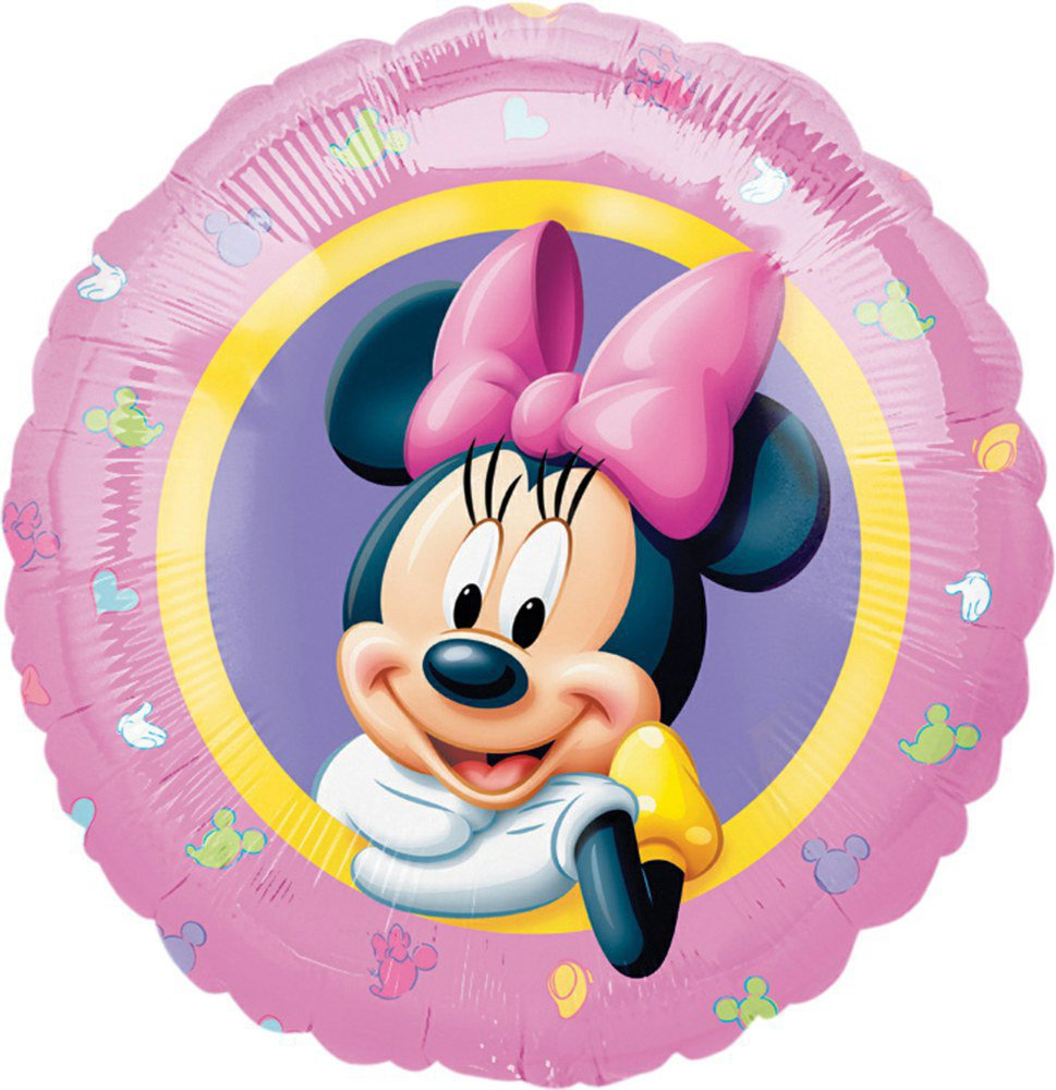 XXL Helium Folienballon Blau Geburtstag Kuchen Geschenk Torte Micky Minnie Maus
