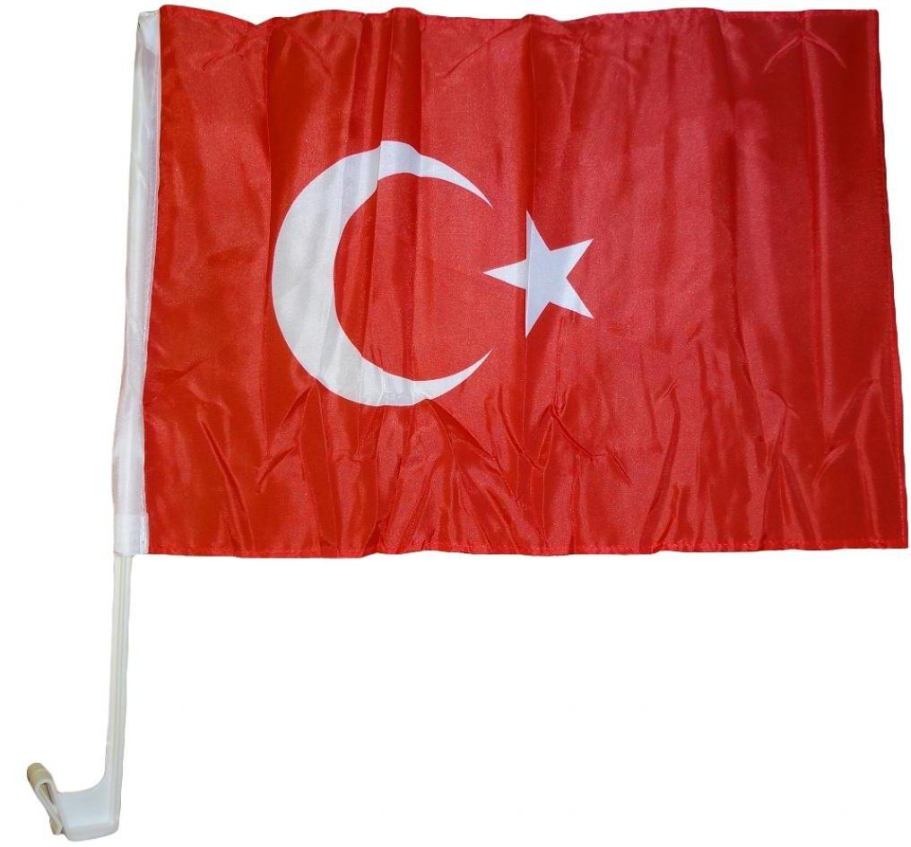 Auto Magnet Türkei Fanflosse Fahne Fussball magnetisch bis 180 km//h