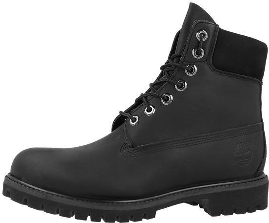 Timberland 6 Inch Premium Boot Black Smooth 10054