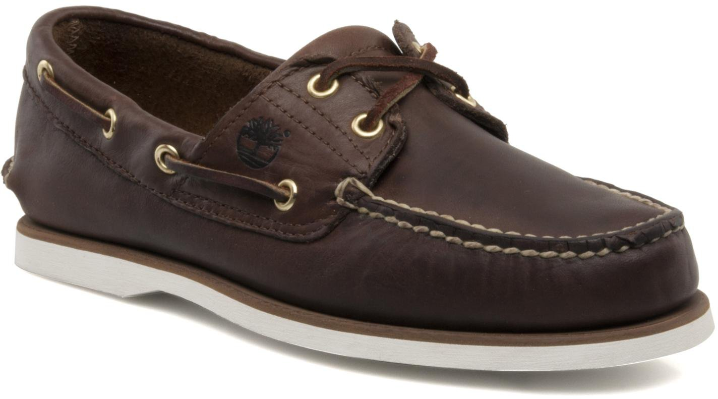 Timberland Classic 2 Tone 2 Eye Boat Shoe Dark Brown Smooth 74035
