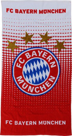 Kapuzenhandtuch rot Berni Logo FC Bayern München Badetuch 22880 FCB Fanartikel