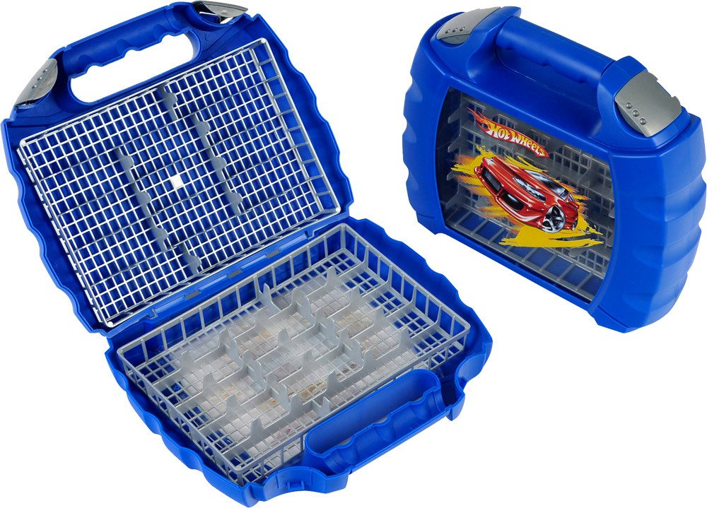 Hot Wheels Autosammelkoffer aus Metall Platz für 18 Autos
