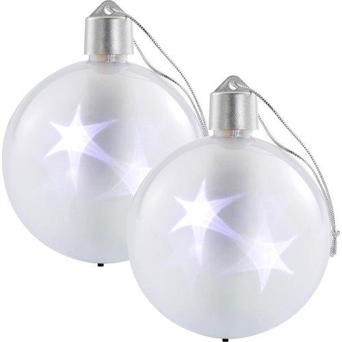 Weihnachtskugeln Weiß Silber.Weihnachtskugeln Weiß
