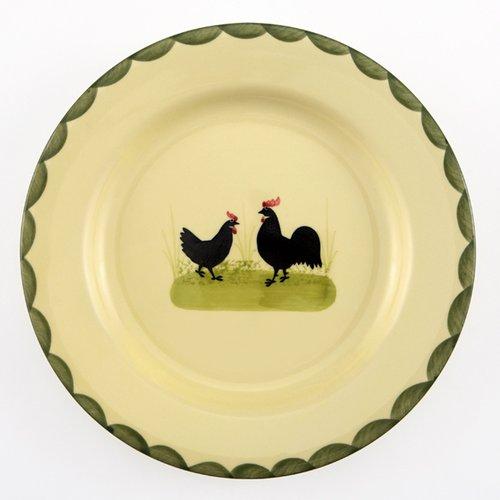 Zeller Keramik Hahn und Henne Teller 25 cm