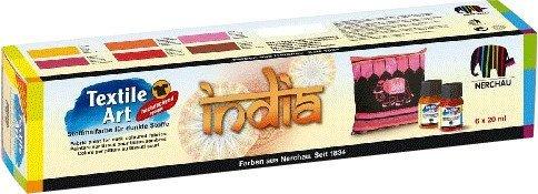 Nerchau Textile Art Stoffmalfarben für dunkle Stoffe Set India (144908)