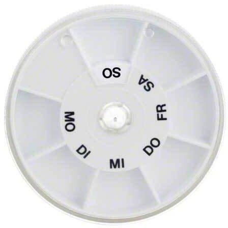 Icron Tablettenspender Icron 7 Fächer Transparent Rund