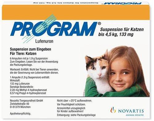 Novartis Program 133 mg Suspension für Katzen Ampullen (6 Stk.)