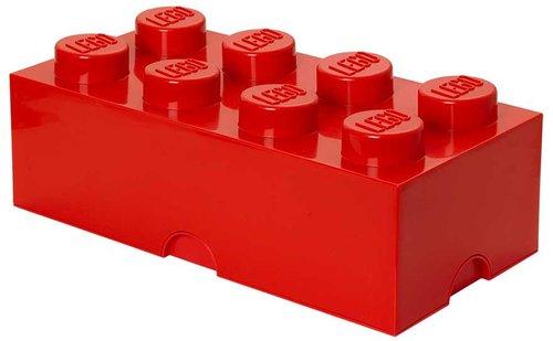 LEGO Aufbewahrungs-Box 1 x 8 Rot