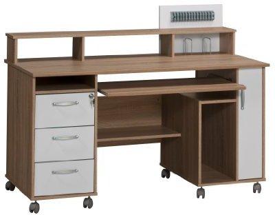 Maja Computertisch 9475 (Sonoma-Eiche / Icy-weiß)