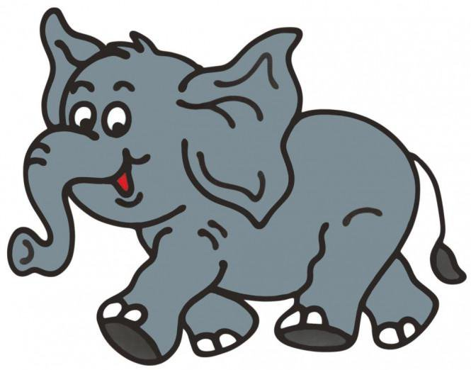 Elefanten Fensterbild