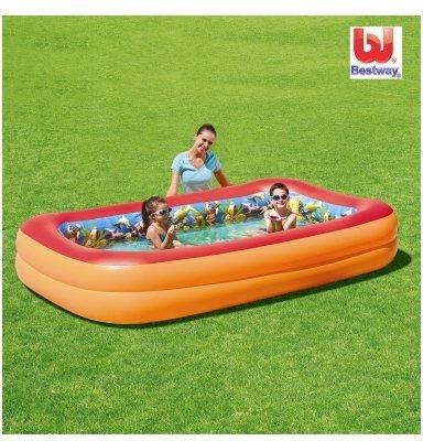 Bestway Splash & Play 3D Planschbecken 262 x 175 x 51 cm