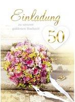 Einladungskarten silberne Hochzeit Silberhochzeit Motiv Sekt Rosen 156