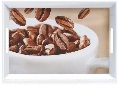 Zeller Melamintablett Coffee 50 x 35 cm
