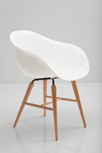Kare Forum Armlehne White mit Stuhl Wood OkiPXZu