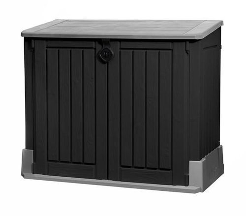 Keter Mülltonnenbox Woodland 30 schwarz