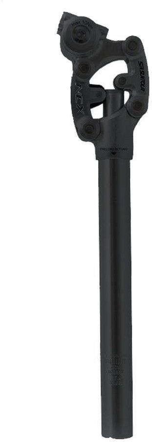 SR SUNTOUR Federsattelstütze Parallelogramm SP12 NCX 27,2 mm silber schwarz