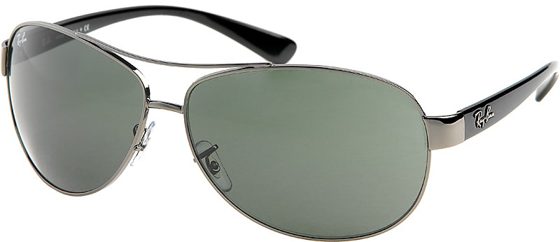 Ray Ban Sonnenbrille RB 3386 0049A Gr.63 in der Farbe shiny gunmetal silber polarisierend