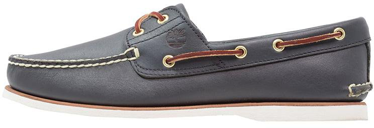 Timberland Classic 2 Eye Boat Shoe Navy Smooth 74036