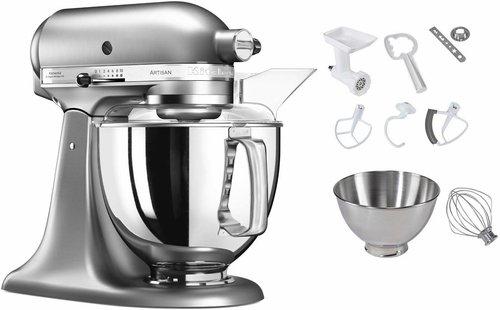 KitchenAid Artisan Küchenmaschine Gebürstetes Metall 5KSM150PS ENK