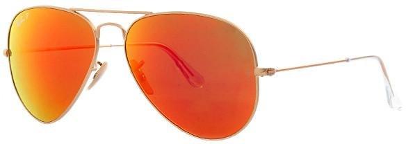 Neu Original Ray Ban Aviator large Metal rot orange