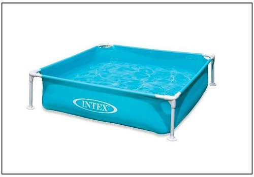 Intex Pools Frame Kinderpool Mini 122 x 122 x 30 cm blau (57171)