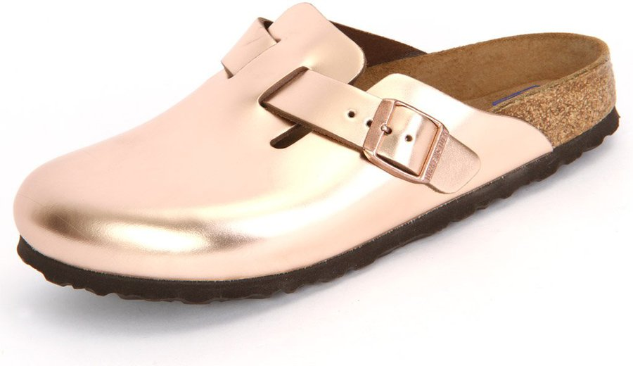 pretty nice 7a40e 72a1a Birkenstock Boston Naturleder metallic copper
